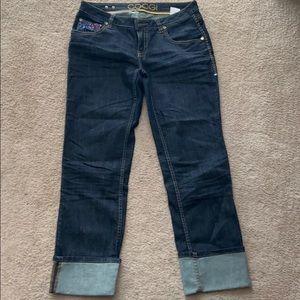 Coogi vintage purple blue rhinestone cuff Jeans